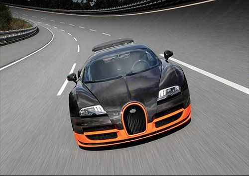 Car bugatti veyron sport, Black colour - From £17.50 | Metal Plate Pictures