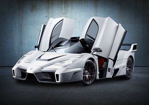 Ferrari Enzo Car White, Black colour - From £17.50   Metal Plate Pictures