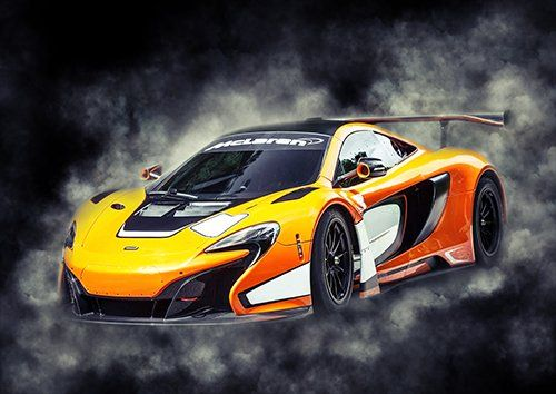 Car McLaren 650S GT Car Orange Smoke, Black colour - From £17.50 | Metal Plate Pictures