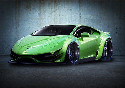 Car Lamborghini Huracan LP640 4 Super Car Green, Black colour - From £20.50   Metal Plate Pictures