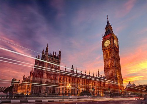 Big Ben London, Black colour - From £17.50 | Metal Plate Pictures