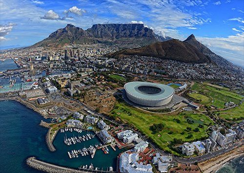 Cape Town South Africa, Black colour - From £17.50 | Metal Plate Pictures