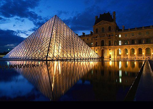 France Louvre Museum, Black colour - From £17.50 | Metal Plate Pictures