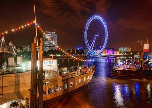 London at night, Black colour - From £17.50 | Metal Plate Pictures