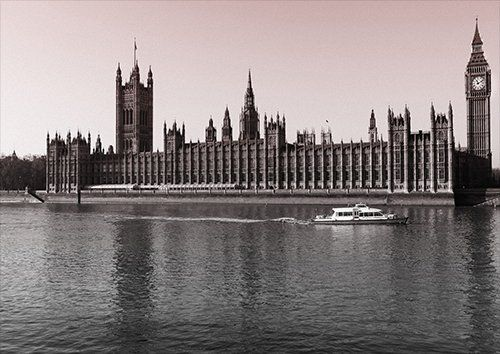 London big ben, Black colour - From £17.50 | Metal Plate Pictures