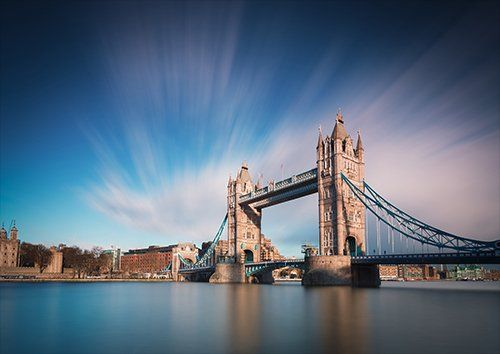 London tower bridge, Black colour - From £17.50   Metal Plate Pictures