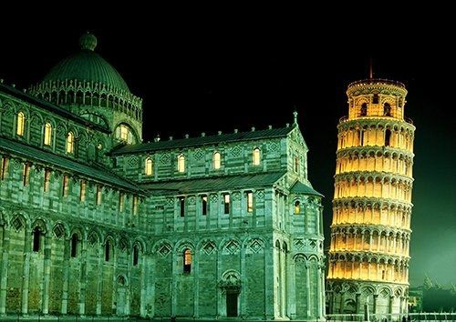 Tower pisa Italy, Black colour - From £17.50 | Metal Plate Pictures