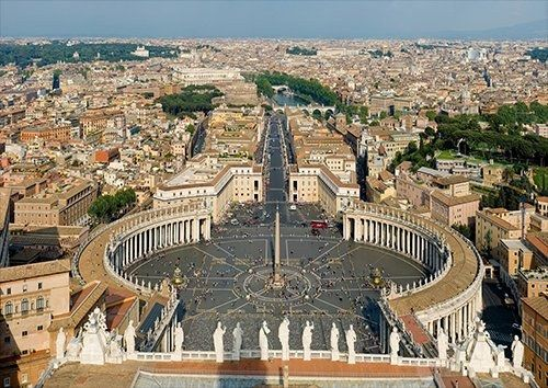 Vatican city, Black colour - From £17.50 | Metal Plate Pictures