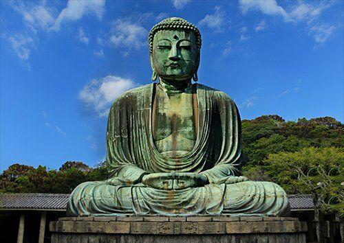 Buddha Religion Kamakura Japan Spiritual, Black colour - From £17.50 | Metal Plate Pictures