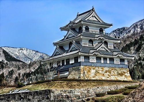 Fujihashi Castle Japan Historic Landmark Hdr, Black colour - From £17.50 | Metal Plate Pictures