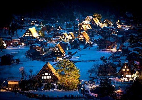 Japan Shirakawa Go Gifu Heritage Village Unesco, Black colour - From £20.50 | Metal Plate Pictures