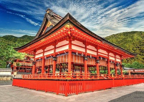 Kyoto Japan Enryaku Ji Temple, Black colour - From £17.50   Metal Plate Pictures