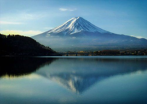 Mount Fuji Japan Mountains Sky Clouds, Black colour - From £17.50 | Metal Plate Pictures
