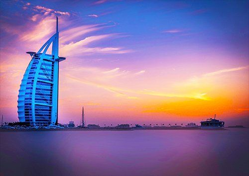 Dubai, Black colour - From £17.50 | Metal Plate Pictures