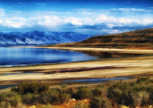Great salt lake, Black colour - From £17.50 | Metal Plate Pictures