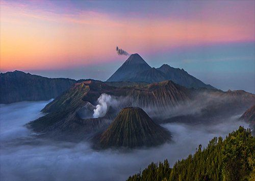 Indonesia bromo, Black colour - From £17.50 | Metal Plate Pictures