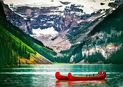 Lake louise, Black colour - From £20.50 | Metal Plate Pictures