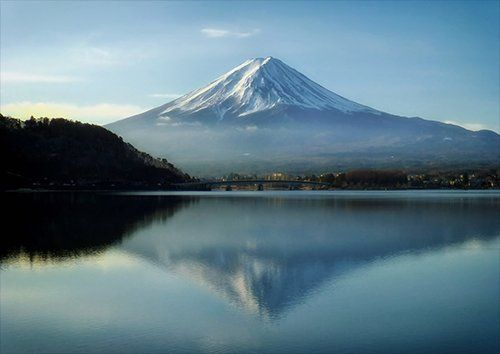 Mount fuji mist, Black colour - From £17.50 | Metal Plate Pictures