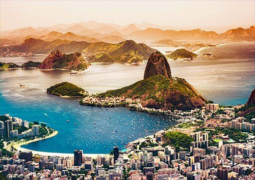 Rio De Janeiro, Black colour - From £17.50 | Metal Plate Pictures