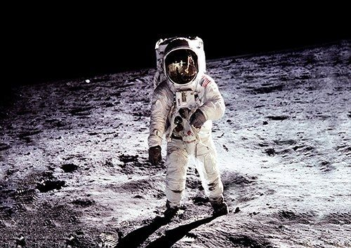 Space moon landing, Black colour - From £17.50 | Metal Plate Pictures