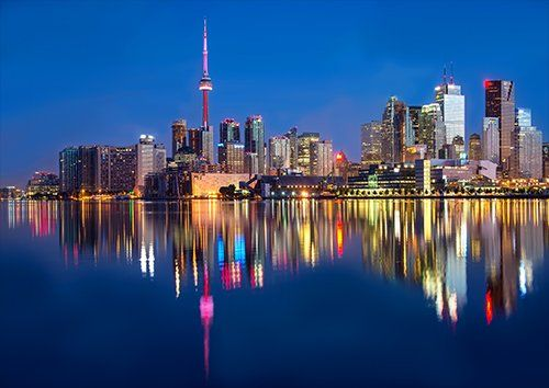 Toronto city view landscape, Black colour - From £17.50 | Metal Plate Pictures