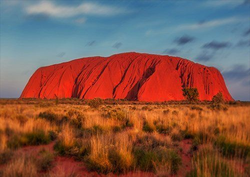 Uluru rock, Black colour - From £17.50 | Metal Plate Pictures