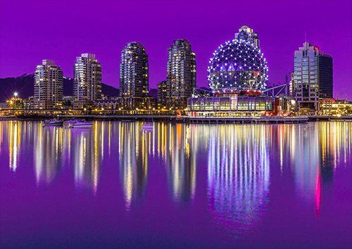 Vancouver, Black colour - From £17.50 | Metal Plate Pictures