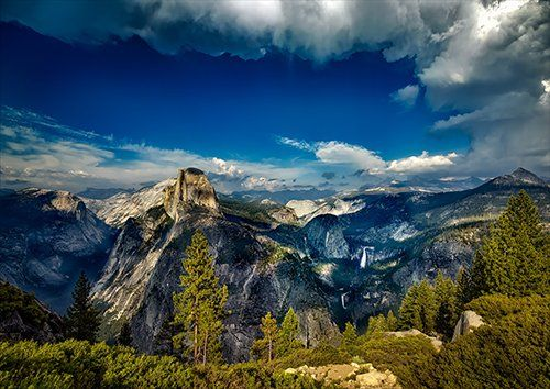 Views beyond the eye yosemite, Black colour - From £20.50 | Metal Plate Pictures
