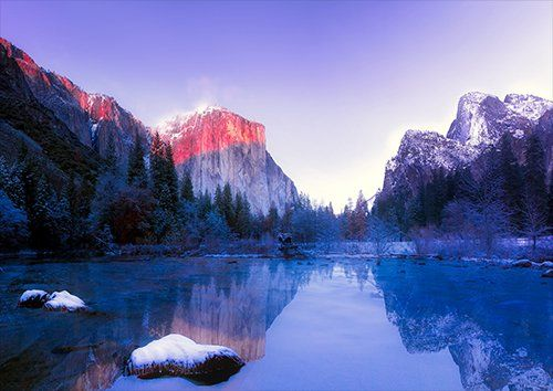 Yosemite dusk, Black colour - From £17.50 | Metal Plate Pictures