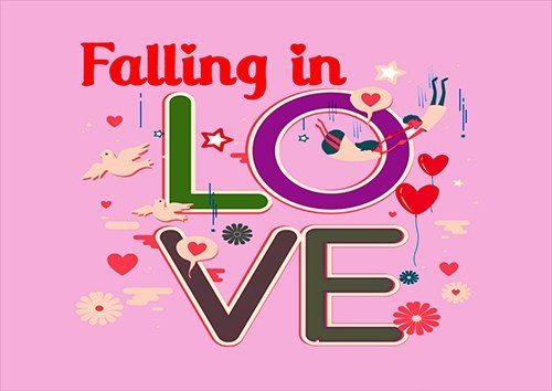 Falling in love, Black colour - From £17.50   Metal Plate Pictures