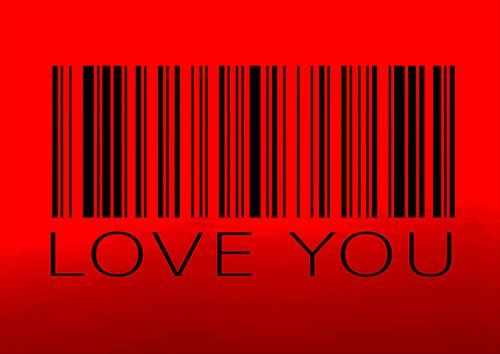 Love you art, Black colour - From £20.50 | Metal Plate Pictures