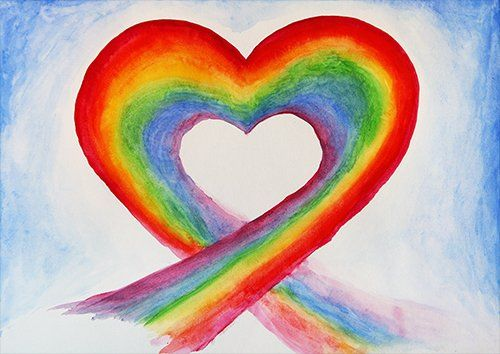 Rainbow love, Black colour - From £17.50 | Metal Plate Pictures