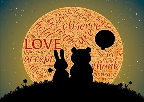 Words silouhette freindship love, Black colour - From £20.50   Metal Plate Pictures