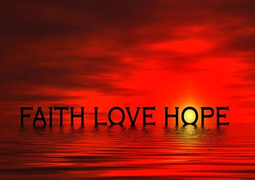 Faith hope love, Black colour - From £17.50 | Metal Plate Pictures