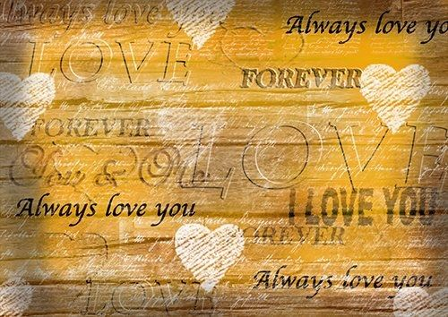 Forever yellow love, Black colour - From £17.50 | Metal Plate Pictures