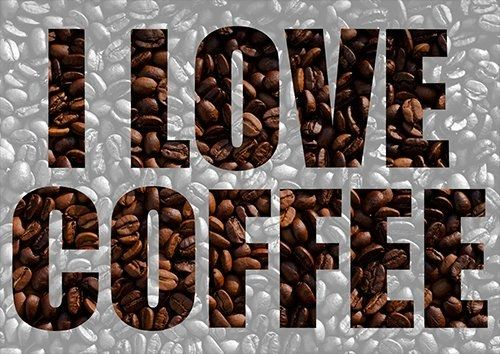 I love coffee , Black colour - From £17.50 | Metal Plate Pictures