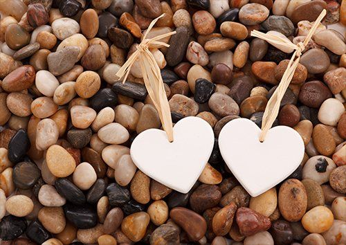Stones of love, Black colour - From £17.50 | Metal Plate Pictures