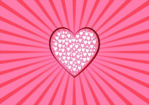 White hearts pink love, Black colour - From £17.50 | Metal Plate Pictures