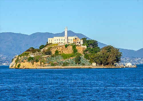 Alcatraz places, Black colour - From £17.50 | Metal Plate Pictures