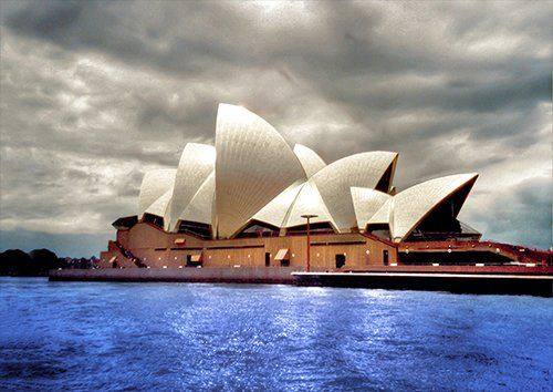 Australia Sydney Opera places, Black colour - From £17.50 | Metal Plate Pictures