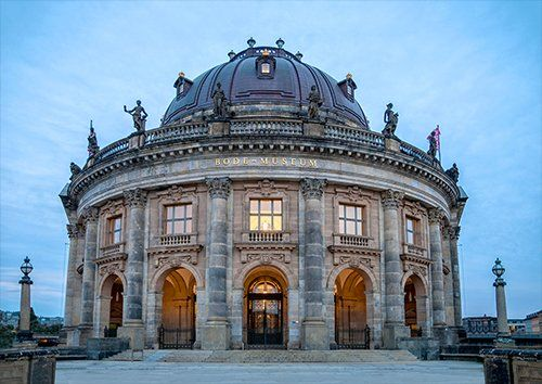 Berlin Bode Museum places, Black colour - From £17.50 | Metal Plate Pictures