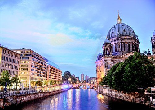 Berlin cathedral places, Black colour - From £17.50 | Metal Plate Pictures
