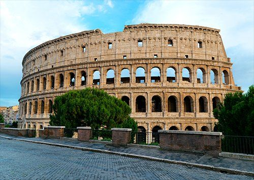 Colosseum Italy places, Black colour - From £17.50 | Metal Plate Pictures