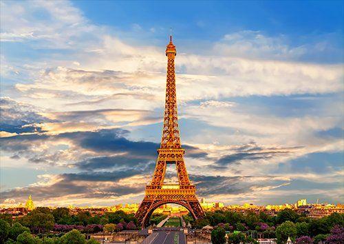 Eiffel tower paris places, Black colour - From £17.50   Metal Plate Pictures