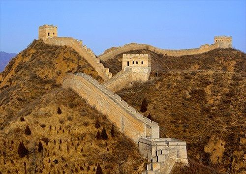 Great Wall of China places, Black colour - From £17.50 | Metal Plate Pictures