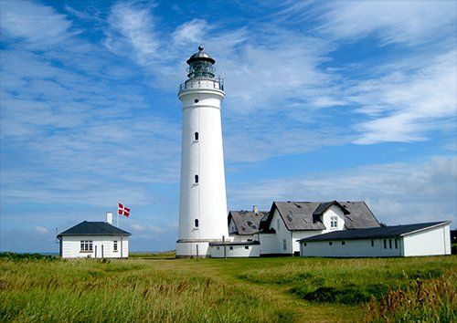 Lighthouse In Hirtshals Denmark places, Black colour - From £17.50 | Metal Plate Pictures