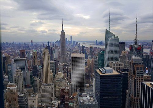 New york skyline places, Black colour - From £17.50 | Metal Plate Pictures
