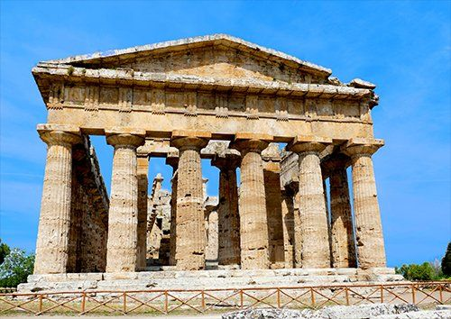 Paestum Italy places, Black colour - From £17.50 | Metal Plate Pictures
