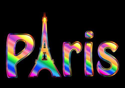 Paris text places, Black colour - From £20.50 | Metal Plate Pictures