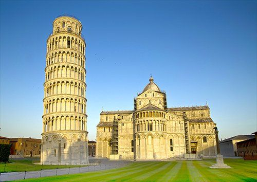 Pisa Campanile Leaning Tower Italy, Black colour - From £17.50 | Metal Plate Pictures